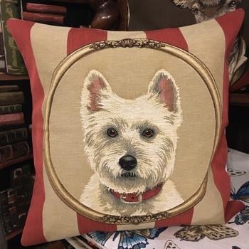 """Westy stripes"" Belgium Tapestry cushion"