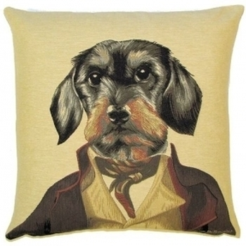 """""""Thierry Poncelet teckel"""" Belgian Tapestry cushion"""