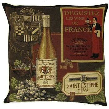 """Sauternes"" Belgian Tapestry cushion"