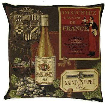 """Sauternes"" Belgian Tapestry cushion"