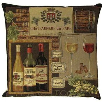 """""""ChÂteauneuf du pape"""" Belgian Tapestry cushion"""