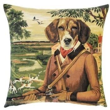 """""""Beagle II scène de chasse"""" Belgische tapisserie kussen"""