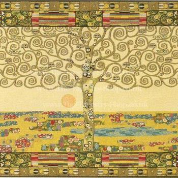 """""""Gustav Klimt levensboom"""" Belgische tapisserie wandtapijt"""