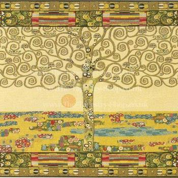 """Gustave Klimt ""Arbre de vie"" Tapisserie Belge tapis mural"