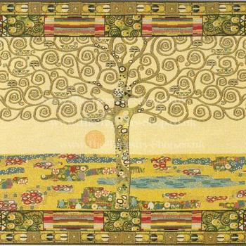 """Gustave Klimt tree of life'' Belgian tapestry wallhanging"