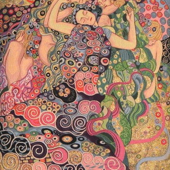 """Gustave Klimt, les vierges"" Belgian Tapestry wallhanging"