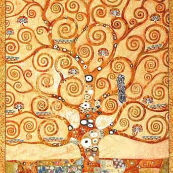 """Gustave Klimt Tree of life"" Belgian tapestry wallhanging"