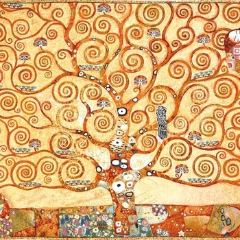 """Gustave Klimt Tree of life"" Belgian Tapestry wallhanging"