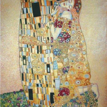 """Gustave Klimt The kiss"" Belgian tapestry wallhanging"