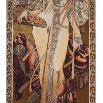 """Alfons Mucha Autumn"" Belgian Tapestry wallhanging"