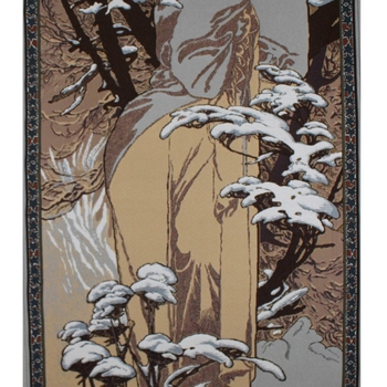 """Alfons Mucha, Winter"" Belgian tapestry wallhanging"