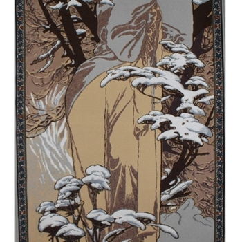 """""""Alfons Mucha, De winter"""" Belgische Tapisserie wandkleed"""