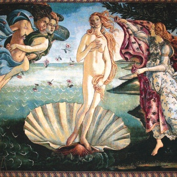 """Sandro Botticelli The Birth of Venus'' Belgian Tapestry wallhanging"
