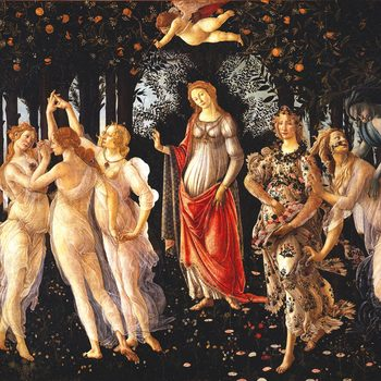 """Sandro Botticelli, The spring"" Belgian tapestry wallhaning"