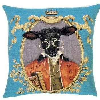 """Dressed sheep"" Belgian tapestry cushion"