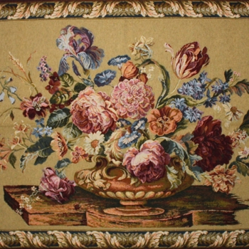 """Floral yellow"" Belgian Tapestry"