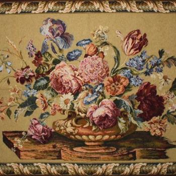 """""""Floral geel"""" Belgische tapisserie wandkleed"""