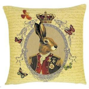 """Funky Rabbit"" Belgian Tapestry cushion"
