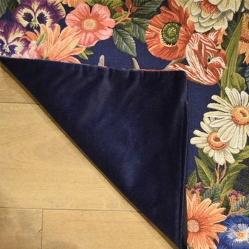 """""""Stagehead I Flowers"""" Belgian Tapestry cushion"""