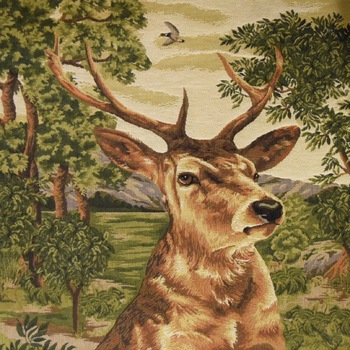 """Stagehead I forest"" Belgian Tapestry cushion"