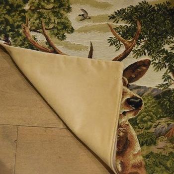 """""""Hertenkop I forest"""" Belgische tapisserie kussen"""