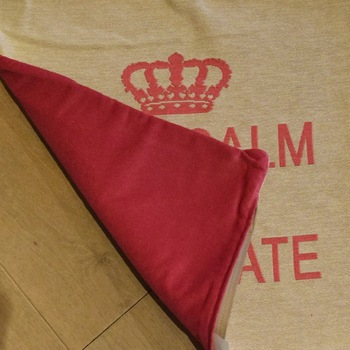 """Keep calm & eat chocolate"" Tapisserie Belge coussin"