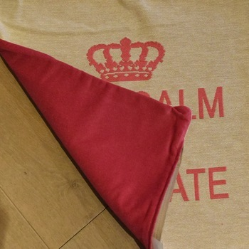"""Keep calm & eat chocolate"" Belgian Tapestry cushion"