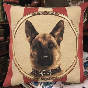 """German shepherd"" Belgian Tapestry cushion"