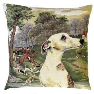 """""""Forest whippet"""" Belgian Tapestry cushion"""