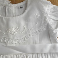 Handmade lace baby romper