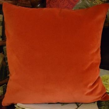 """""""Vizla oranje"""" Belgische tapisserie kussen"""