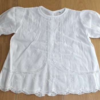 Handmade lace baby romper