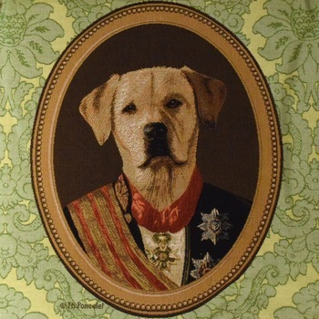 """""""Thierry Poncelet labrador """" Tapisserie Belge coussin"""