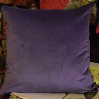 """Greyhounds purple"" Belgian Tapestry cushion"