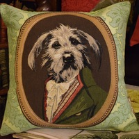 """""""Thierry Poncelet Snaucher groen"""" Belgian Tapestry cushion"""
