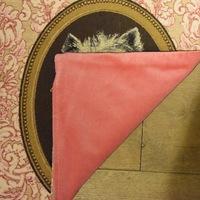 """""""Thierry Poncelet westy roze """" Belgische tapisserie kussen"""