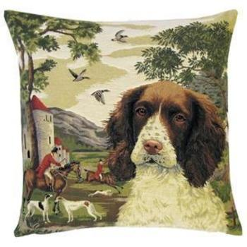 """Springer Spaniel"" Belgium Tapestry cushion"