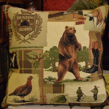 """""""Hunting Trophy"""" Belgian Tapestry cushion"""
