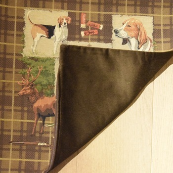 """Hunting Trophy II"" Belgian Tapestry cushion"