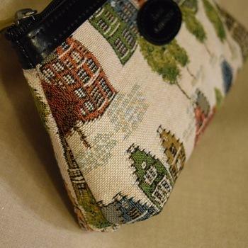 """Make up bag, Bruges houses"" Belgium Tapestry bags"