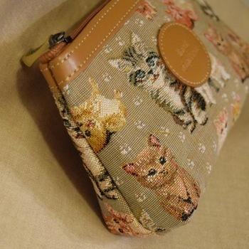 """""""Make up bag, Cats"""" Belgium Tapestry bags"""