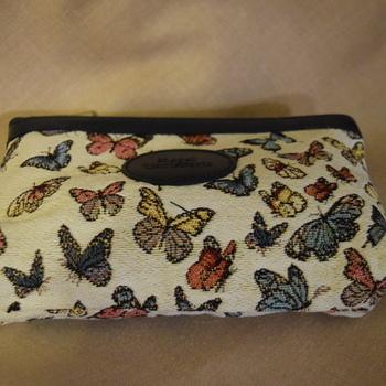 """Make up bag, butterflies"" Belgium Tapestry bags"