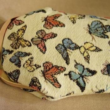 """""""sac à lunettes, papillons"""" Tapisserie Belge"""
