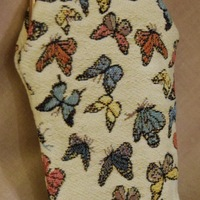 """Glasses bag, butterflies"" Belgium Tapestry bags"