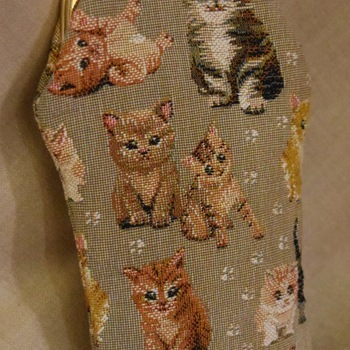 """Glasses bag, cats"" Belgium Tapestry bags"