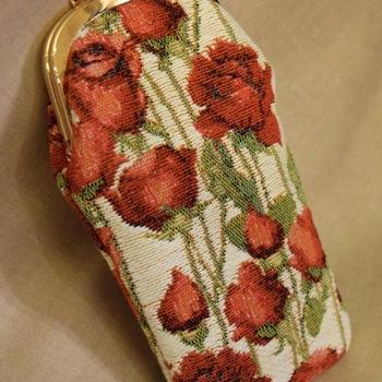 """""""Glasses bag, Roses"""" Belgium Tapestry bags"""