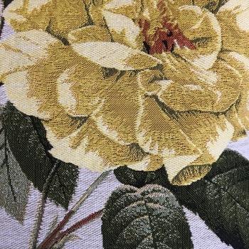 """Roses jaunes"" Tapisserie Belge coussin"