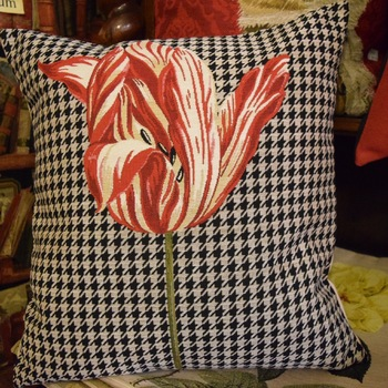 """Tulip"" Belgium Tapestry cushion"