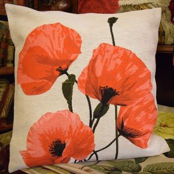 """""""poppy"""" Belgium Tapestry cushion"""