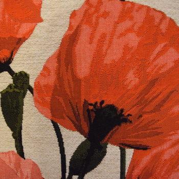 """""""Poppies""""  Belgische tapisserie kussen"""